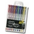 Black Style gelová pera Metallic - mix 10 barev