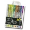 Black Style gelová pera Glitter - mix 10 barev