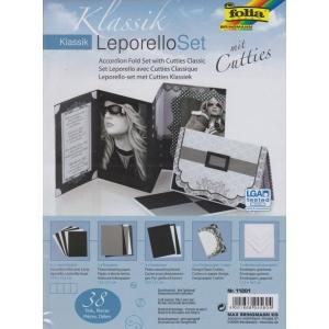 Leporello set designových papírů s výseky Klasika