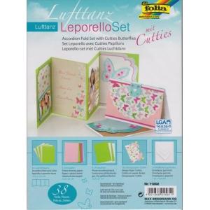 Leporello set designových papírů s výseky Motýlci