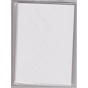 5 dvojlistých přáníček + 5 obálek 10,5 x 15cm bílá