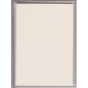 5 dvojlistých přáníček + 5 obálek 10,5 x 15cm perlově bílá