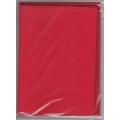 5 dvojlistých přáníček + 5 obálek 10,5 x 15cm sytě červená