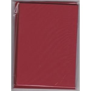 5 dvojlistých přáníček + 5 obálek 10,5 x 15cm tmavě červená