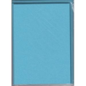 5 dvojlistých přáníček + 5 obálek 10,5 x 15cm nebeská modrá