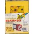3 paspart. přáníčka 10,5 x 15cm transp. obálky žlutá gerbery
