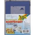 3 paspart. přáníčka 10,5 x 15cm transp. obálky modrá medvídci