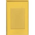 3 paspart. přání ražená + 3 obálky 11 x 18cm s výsekem obdélník žlutá