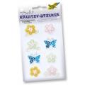 Kreativní samolepky Motýlci a květinky