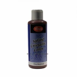 Satiné - krystalická barva Tmavě červená 82ml