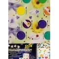 Transparentní papír 5 listů 115g 23x33cm mix 5 motivů PARTY