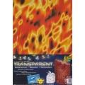 Transparentní papír 5 listů 115g 23x33cm Moderní plameny
