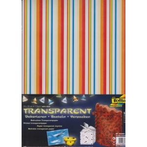 Transparentní papír 5 listů 115g 23x33cm Silné proužky