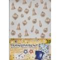 Transparentní papír 5 listů 115g 23x33cm Vánoční ozdoby
