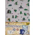 Transparentní papír 5 listů 115g 23x33cm Zelené potvůrky