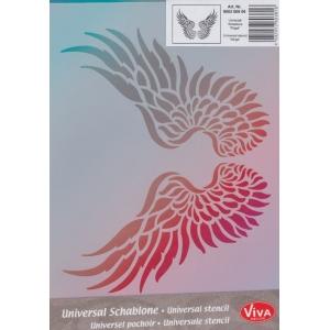 Univerzální šablona A4 Křídla