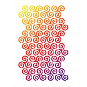 Univerzální šablona A3 Spirálový vzor
