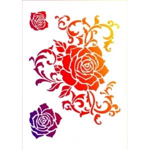 Univerzální šablona A3 Ornament s růžemi