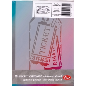 Univerzální šablona A5 Visačka Ticket