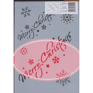 Univerzální šablona A4 Merry Christmas