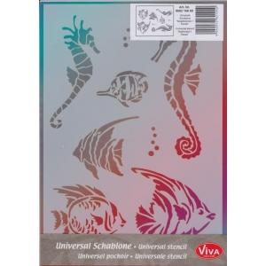 Univerzální šablona A4 Mořský koník a rybičky
