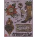 Transparentní silikonová razítka D116 Steampunk Christmas