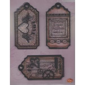 Transparentní silikonová razítka D121 Visačky Love