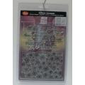 Transparentní silikonová razítka D10 Vánoční pozadí a nápisy