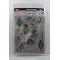 Transparentní silikonová razítka D11 Vánoční ozdoby a kudrlinky