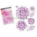 Silikonová razítka 3D Květ Amelie